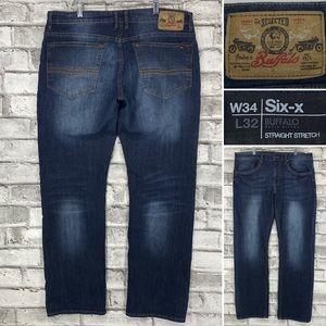 Buffalo Six-X Straight Stretch Men's 34 x 32 Jeans